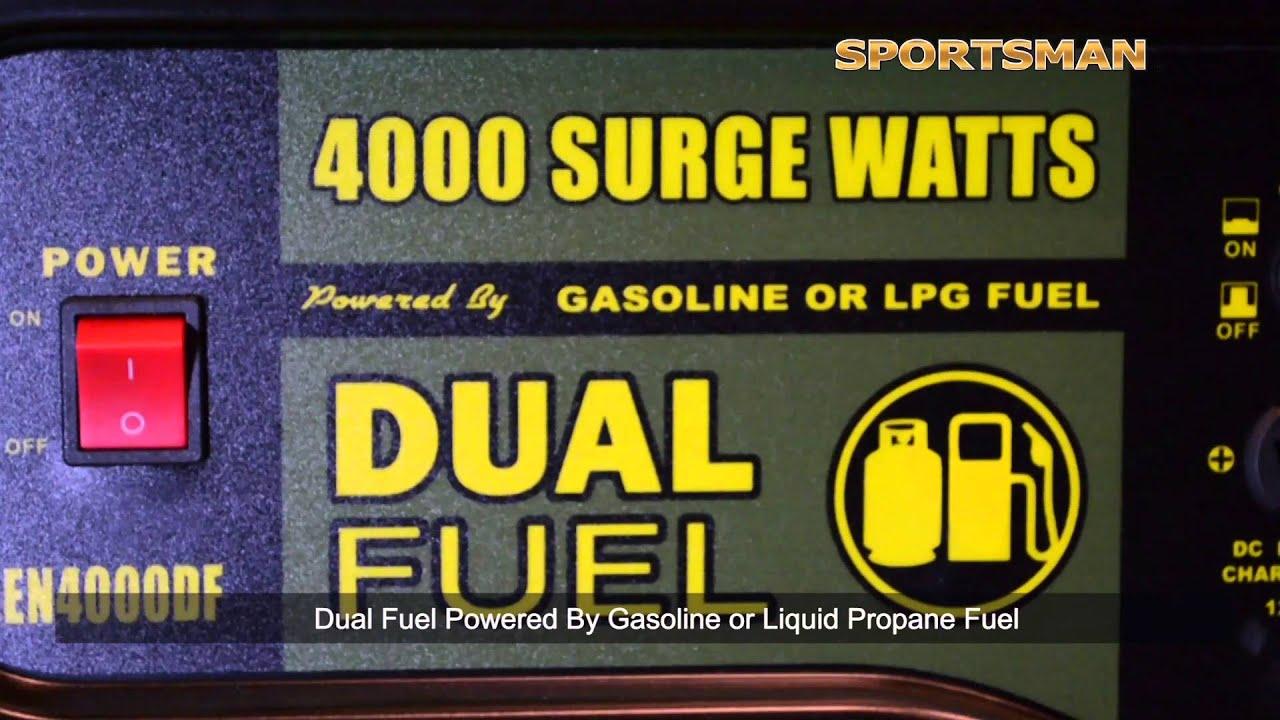 Dual Fuel Propane or Gasoline Generator 4000 Watts
