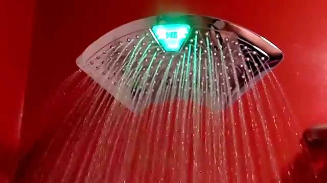 rain shower head with lights. DreamSpa  12 Rainfall Shower Head With Color Changing LED Temperature In Action YouTube