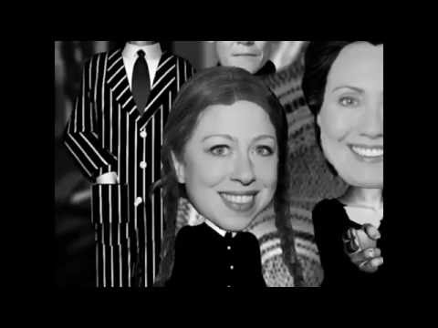 Animation Halloween The Adams family scared of  the Clinton family