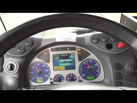 Truck sound driving IVECO Stralis 500 Cursor 13 driving downhill Retarder braking/LKW fahren bremsen