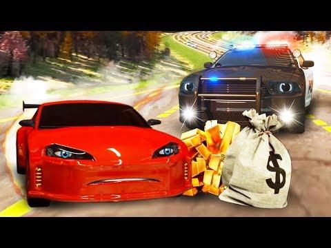Мультфильм про машинки ловят преступников