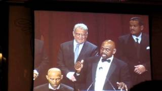 Marquis Grissom honoring the 1994 Montreal Expos at the 2014 BBWAA Dinner