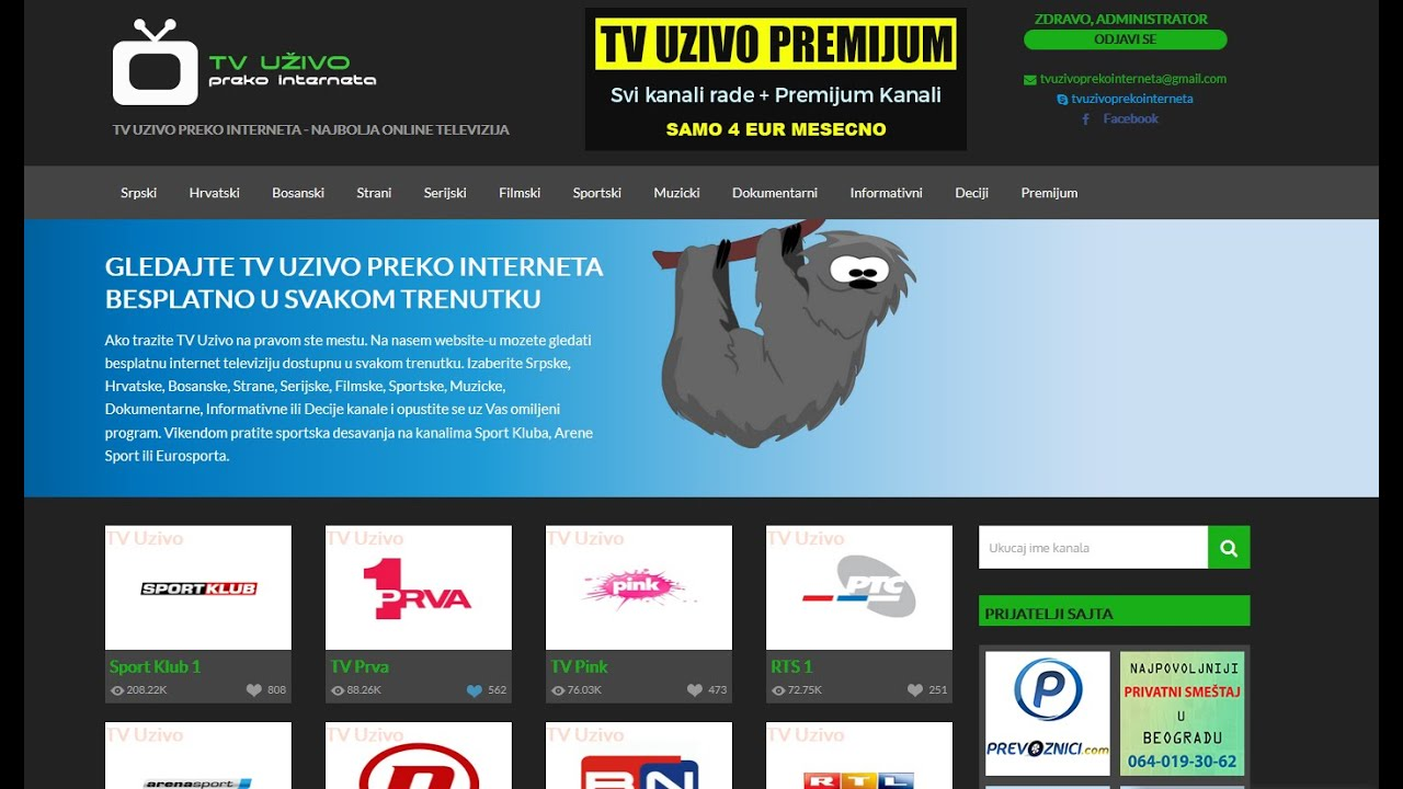 Registracija | TV Uzivo Preko Interneta - YouTube
