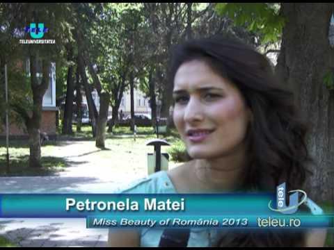 """TeleU: O viitoare inginer constructor de la Poli este """"Miss Beauty of Romania 2013"""""""