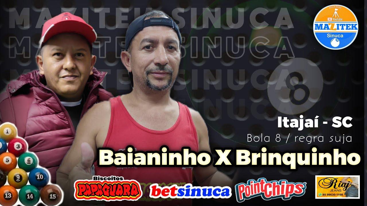 Baianinho vs Brinquinho... SINUCA AO VIVO