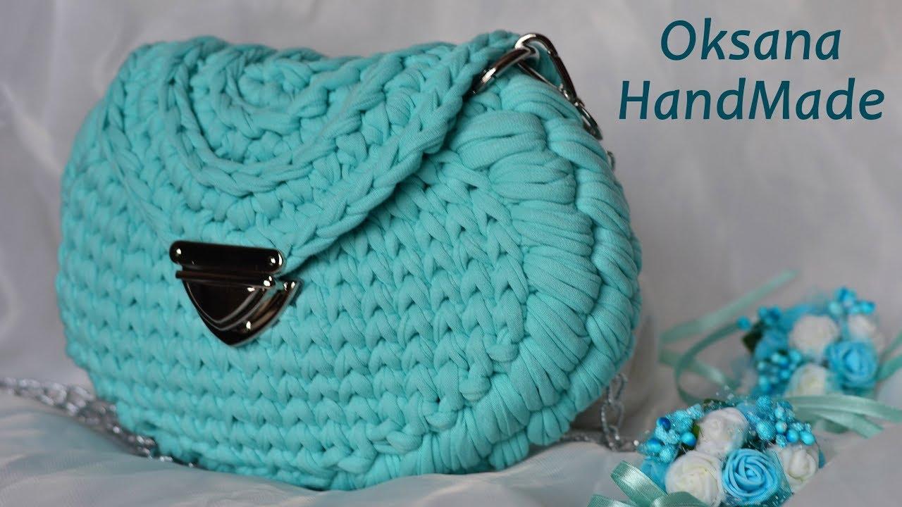 40412a9c20d5 Трендовая сумка из трикотажной пряжи. Мастер класс. rendy crochet bag