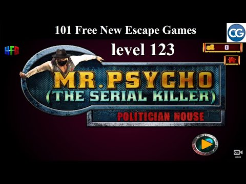 101 Free New Escape Games Level 123- Mr Psycho The Serial Killer  POLITICIAN HOUSE - Complete Game