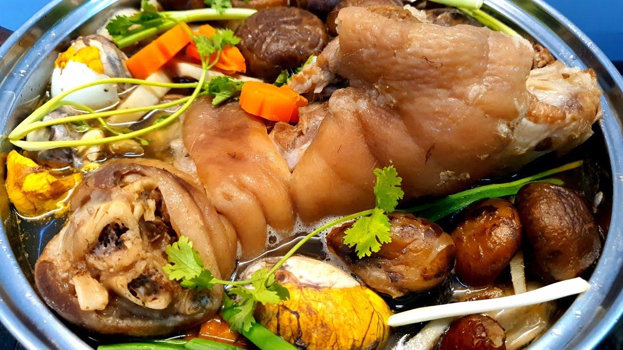 LẨU CHÂN GIÒ HEO HẦM THUỐC BẮC ngon rất bổ dưỡng – món ăn ngon dễ làm