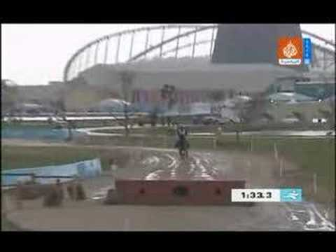 Accident in Doha Asian Game a participate Korian horse Rider