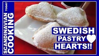 How To Make Swedish Vanilla Heart Pastry - Vaniljhjärtan