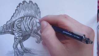 How to Draw Spinosaurus from Jurassic World the Game.  -Danny the Dinosaur Drawer