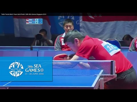 Table Tennis Men's Team Semi-Finals Singapore vs Indonesia M