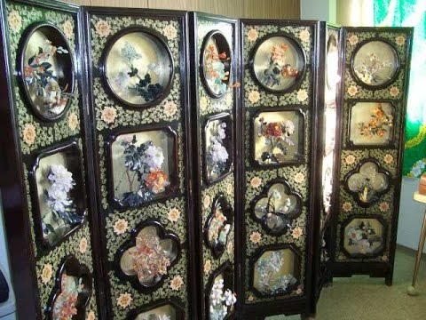 Stunning Antique Asian Room DividerScreen YouTube