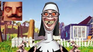 HELLO NEIGHBOR - My New Neighbor Evil Nun Act 2 Trampoline Gameplay Walkthrough
