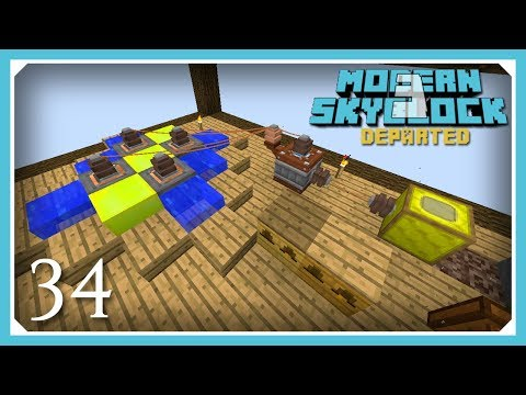 Modern Skyblock 3 Departed | Industrial Apiary & Ectoplasm! | E34 Modern Skyblock 3 Gated