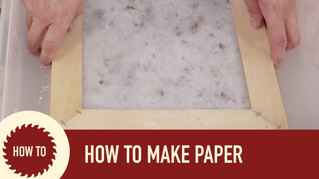 How to make paper out of recycled paper youtube for Useful things to make out of paper