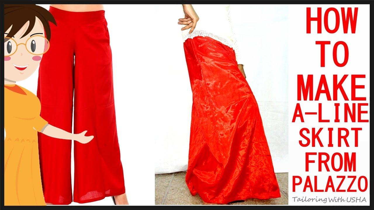 how to make a a line skirt dress ala
