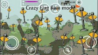 mini militia crazy flag rain mod. (Unlimited xp)
