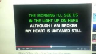"""Story of My Life Karaoke"" Female Key"