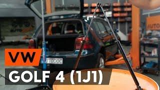 как заменить амортизатор багажника на VW GOLF 4 (1J1) ВИДЕОУРОК AUTODOC