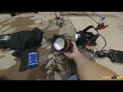 CAME-TV Boltzen 55w LED Fresnel Lens Light Reading at 6ft vs Aputure COB120T