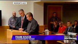 Shanann Watts' father speaks during Christopher Watts' sentencing hearing