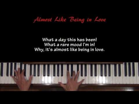 Almost Like Being In Love Piano Tutorial at Tempo