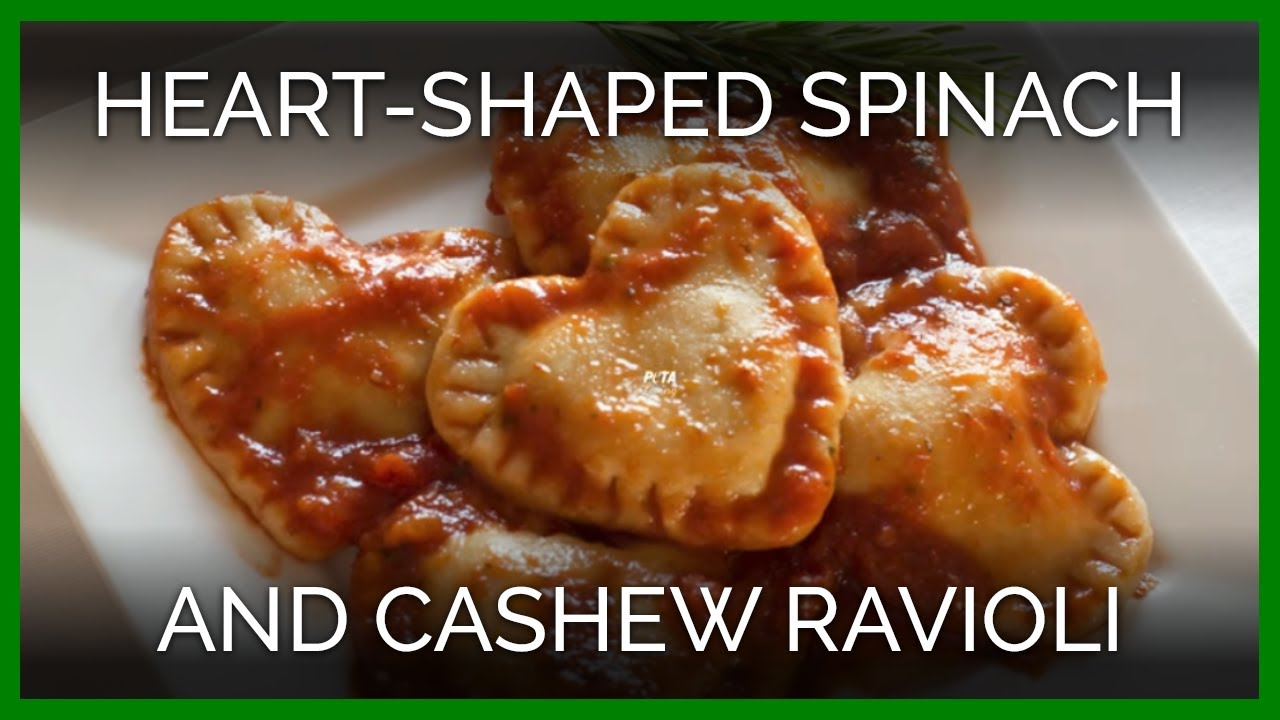 Heart-Shaped Spinach and Cashew Ravioli - YouTube