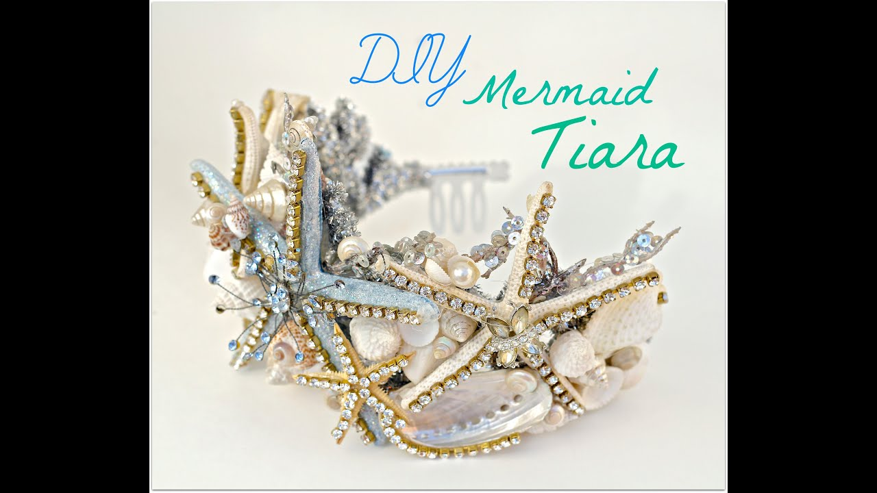 Diy Seashell Crown Mermaid Tiara Youtube