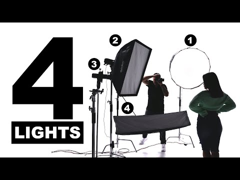 Studio Photography With 4 Flash - Strobe - Speed Lights