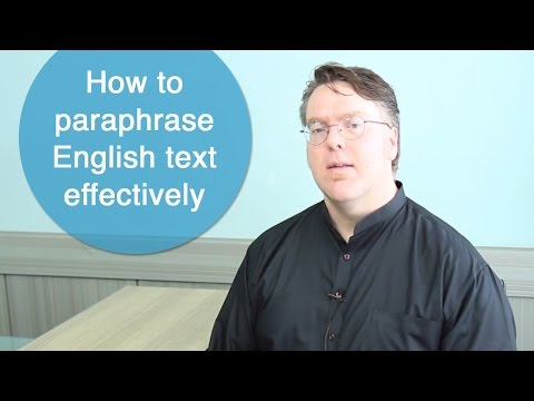 How to paraphrase English text effectively