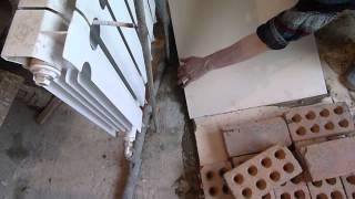 утепление  пола  пеноплэксом(Изначально , до этого здесь были две лоджии ,но после демонтажа перегородки - площать отошла к жилой комнате..., 2013-03-05T13:42:04.000Z)