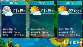 До +33°С и оранжевый уровень опасности прогноз погоды на 11 июня
