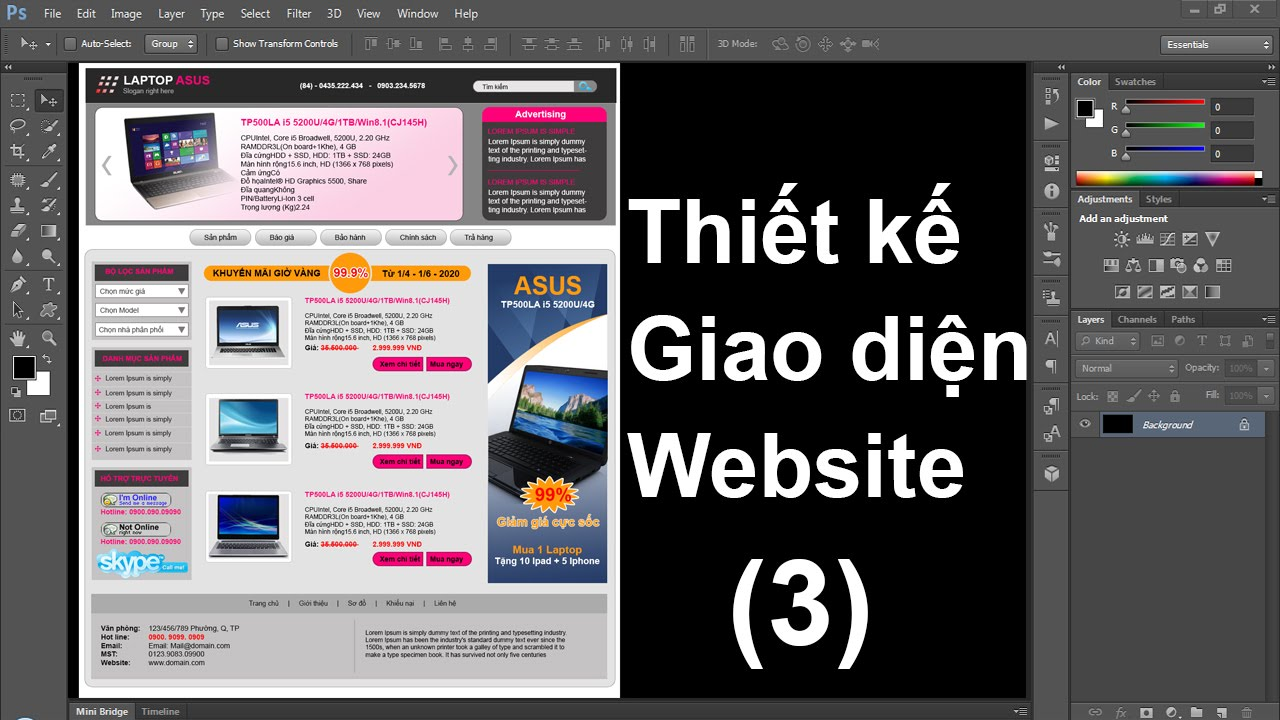 Thiết kế website bằng photoshop [phan-3]