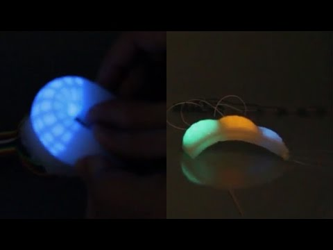 Octopus-like electroluminescent skin
