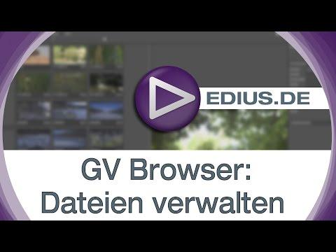 EDIUS Podcast - GV Browser: Dateien verwalten