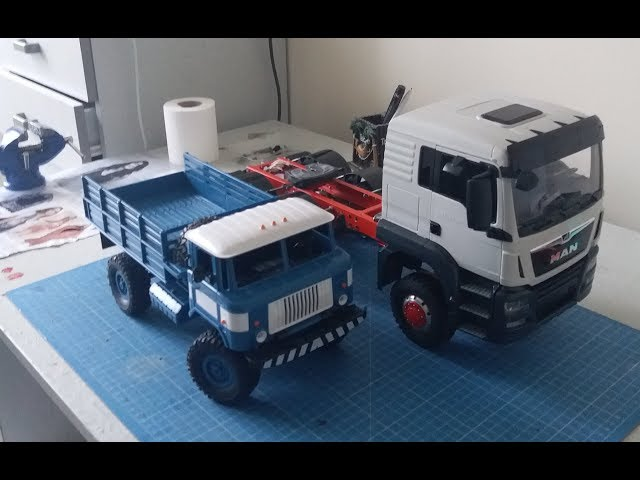 WPL B-2 MONTAGE & SIZE COMPARISON BRUDER MAN TGS - Rc crawler military truck 1:16 WPLB -24 -1 ??? 66