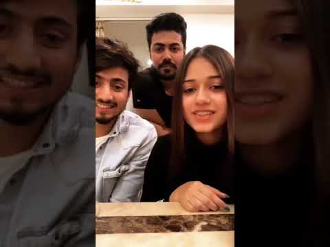 Jannat Zubair और Mr faisu LIVE 🔴 CHAT करके Fans के TIK TOK पर दिया Reaction
