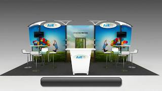 Exhibition Stall Design Using Airlite™ Portable Display Stand In Dubai