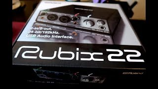 Viewer Comments #3 - Roland Rubix 22 Sample Rates?