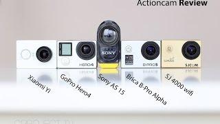 Xiaomi Yi vs  GoPro Hero4 Black vs  Sony AS15 vs  Brica BPro Alpha vs  SJ4000