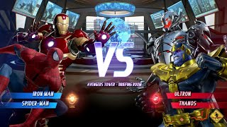 MARVEL VS. CAPCOM: INFINITE Ironman,Spiderman VS CPU Ultron,Thanos