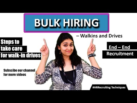 Bulk Hiring Solutions – Walkins And Recruitment Drives II HR Recruiting Tips