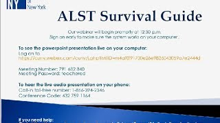 Teacher Ed Webinar: ALST