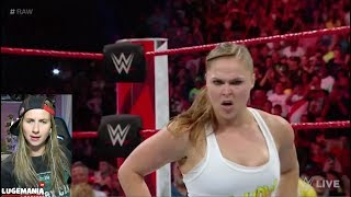 WWE Raw 7/30/18 Alicia Fox vs Nattie w Ronda Rousey