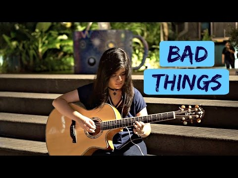 Free Download (machine Gun Kelly, Camila Cabello) Bad Things - Josephine Alexandra / Fingerstyle Guitar Cover Mp3 dan Mp4