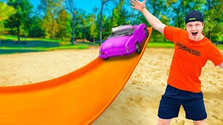 WORLD'S BIGGEST HOT WHEELS JUMP WINS! CHALLENGE