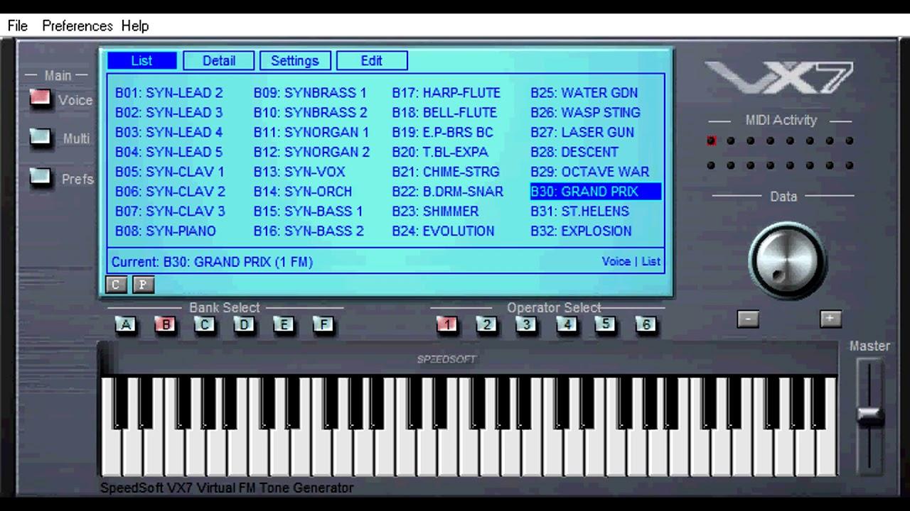Free VST - VX7 Synth - vstplanet com
