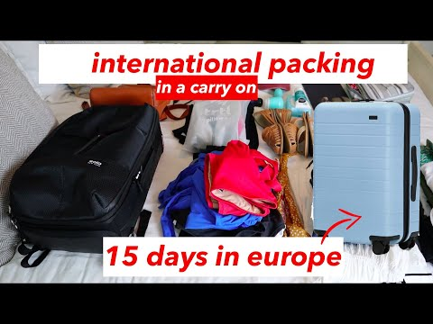 Pack in a Carry On for 15 Days in Europe   AWAY Luggage Bigger Carry On Packing   This or That