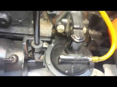 Mercruiser fuel pump and shift cable - YouTube